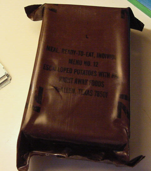 MRE, meal ready to eat