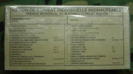 French RCIR, French Individual Reheatable Combat Ration