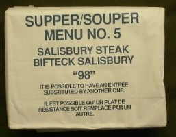 Candian IMP 1998 Supper Menu Salisbury Steak