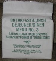 1999 breakfast/lunch menu 3 sausage and hashbrowns