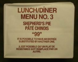 Canadian IMP 1999 lunch menu 3 shepherd's pie