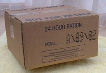 British  24-Hour Operational Ration Pack, Menu A