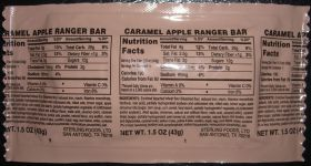 Meal Kit Supply MRE Caramel Apple Ranger Bar retort package