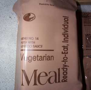 1999 MRE #14 - Pasta w/ Vegetables in Tomato Sauce MRE Bag