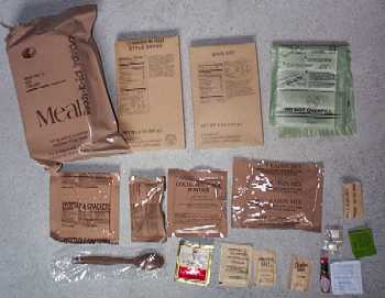 1999 MRE Menu # 16 - Chicken w/ Thai Sauce Bag and Contents