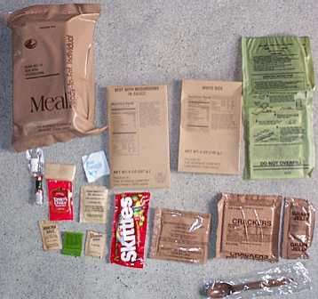 1999 MRE #19 - Beef w/Mushrooms MRE Bag and Contents