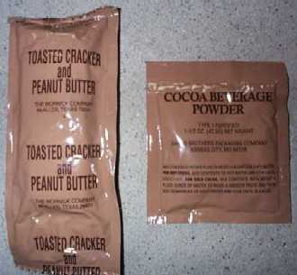 1999 MRE Menu #20 - Spaghetti w/Meat Sauce - toasted cracker and peanut butter and cocoa beverage powder