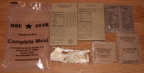 MRE Star complete meal contents