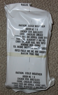 RCW, Ration Cold Weather