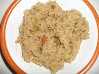 MRE, Fried Rice in a bowl close up