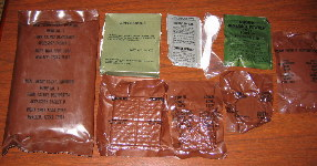 1982 Menu #1 - Pork Patty MRE Contents
