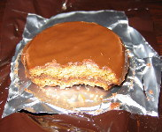 1982 Menu #1 - Pork Patty, Inside chocolate covered cookie