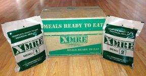 XMRE MRE Case and MREs, Menu 1 and Menu 2