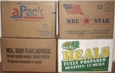 Case of 12 of APack, MREStar, Eversafe and Sure-Pak Civilian MREs
