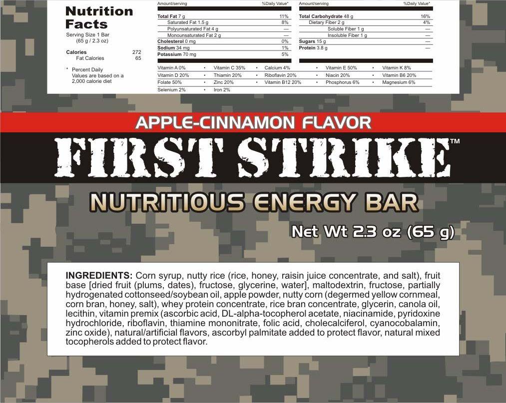First Strike Energy Bars Mre Info