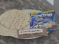 First Strike Ration Tuna pouch, Flour tortillas, and Fat-free Mayonnaise
