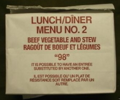 Canadian IMP Lunch/Dinner Menu 2, Beef Vegetable and Stew