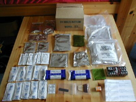 24 hour ration case and contents