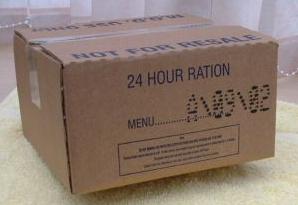 BRITISH ARMY MRE 24 HOUR RATION PACK MENU 11
