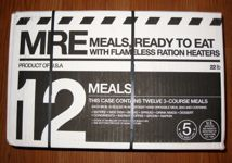 Meal Kit Supply 12-pack of 3-course MRE Front Case
