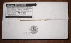 Meal Kit Supply 12-pack of 3-course MRE bottom of case with Julian Date