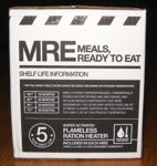 Meal Kit Supply 12-pack of 3-course MRE Side of Case