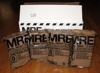 Meal Kit Supply 12-pack of 3-course MRE case and MREs