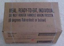 Case of Military meal ready to eat