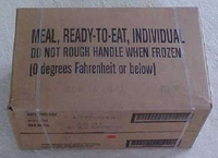 MRE, meal ready to eat case