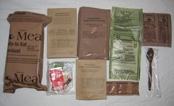 MRE, meal ready to eat contents