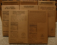 Variety of MRE Entrees
