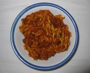 Spaghetti with Meat Sauce Entrée in bowl
