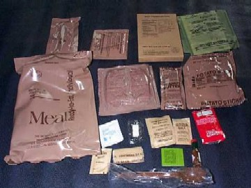 1999 MRE Menu #15 - Beef Franks Bag and Contents