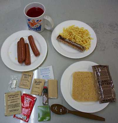 1999 MRE Menu #15 - Beef Franks Meal