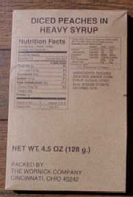 1999 MRE # 18 - Turkey Breast w/Gravy & Potatoes - side dish of diced peaches