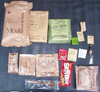 1999 MRE Menu #23 - Chicken w/Cavatelli Bag and Contents