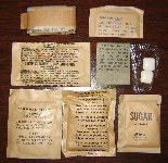 1982 Menu #1 - Pork Patty MRE Accessory Pack and Contents