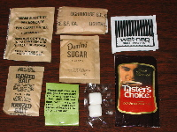 1993 Tuna MRE Accessory pack contents