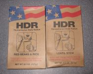 HDR, Red Beans & Rice and Lentil Stew Entrees, front of package