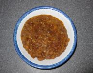 HDR Entree, Lentil Stew in bowl
